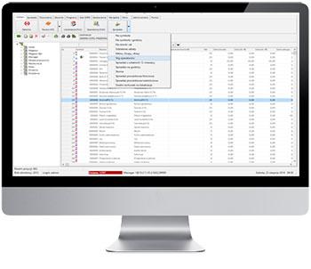 X2System widok ekranu systemu