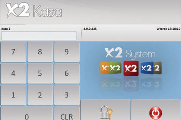 X2System widok ekranu z klawiaturą